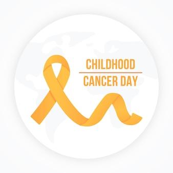 Płaska wstążka dzień raka dzieciństwa