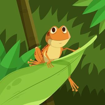 Płaska żaba buźka do kolorowania