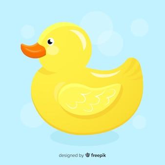 Płaska żółta gumowa kaczka