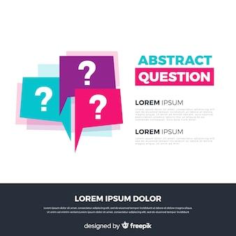 Płaski abstrakcjonistyczny pytania tła szablon