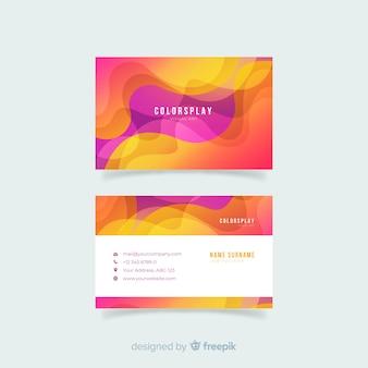 Płaski abstrakcjonistyczny wizytówka szablon