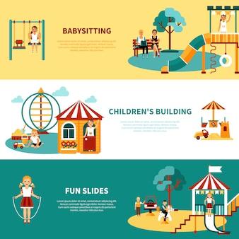Płaski baner dla placów zabaw