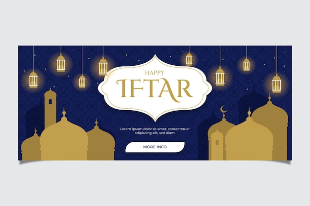 Płaski baner iftar