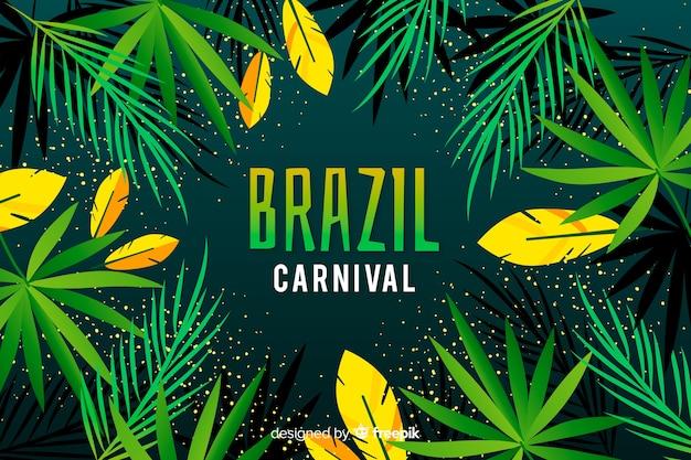Płaski brazylijski karnawał tło