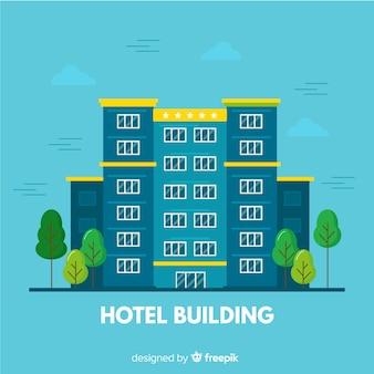 Płaski budynek hotelu