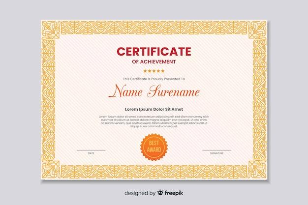 Płaski certyfikat edukacyjny osiągnięcia