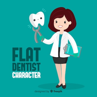 Płaski charakter dentysty