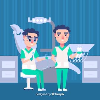 Płaski charakter stomatologiczny