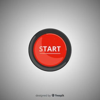 Płaski czerwony przycisk start