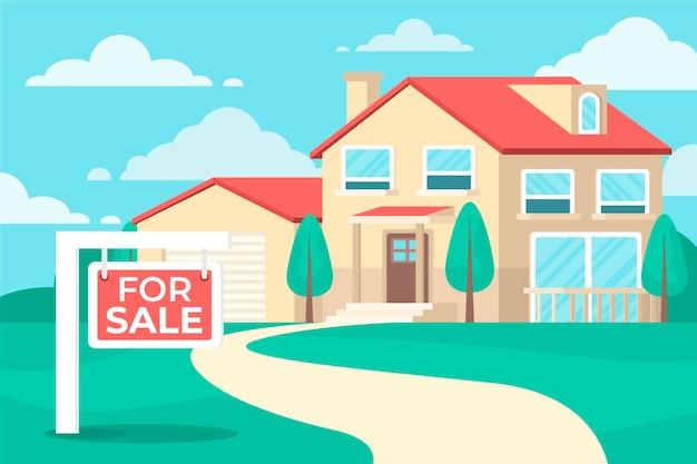 Płaski dom na sprzedaż