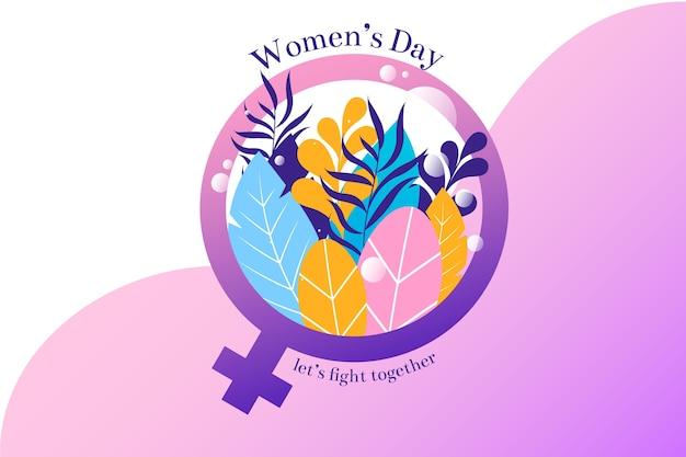 Płaski dzień kobiet z botaniką
