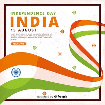 Płaski dzień niepodległości indii tło