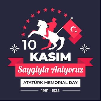 Płaski dzień pamięci atatürka
