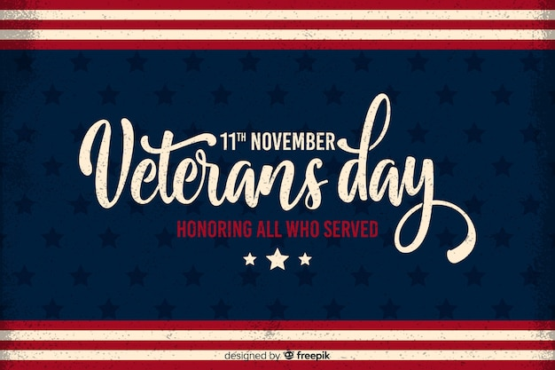 Płaski dzień weteranów ku czci wszystkich, którzy służyli