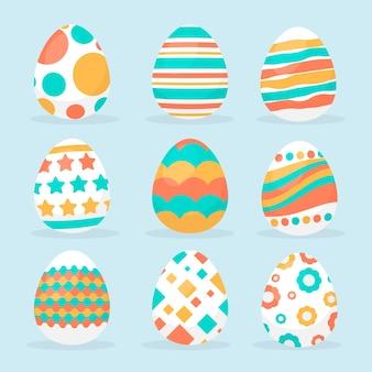 Płaski dzień wielkanoc jajko paczka koncepcja