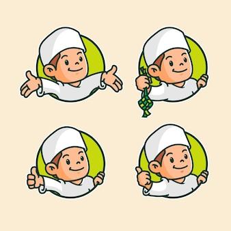 Płaski eid alfitr eid mubarak ilustracja
