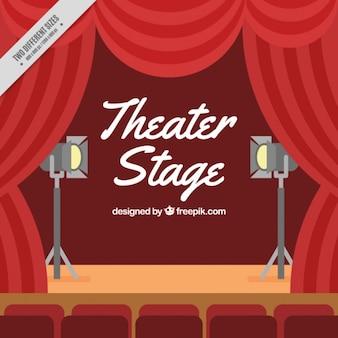 Płaski etap teatru tle