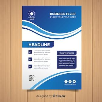 Płaski formalny biznesowy ulotka szablon