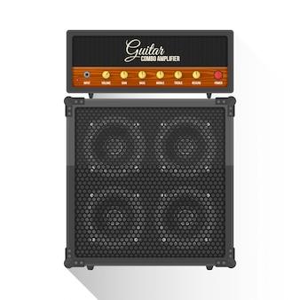 Płaski gabinet wzmacniacz elektryczny gitara ikona combo