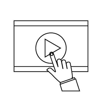 Płaski ikona odtwarzacza multimedialnego