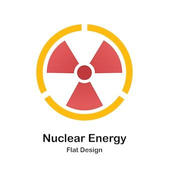 Płaski ilustracja energii jądrowej
