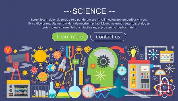 Płaski infografiki szablon badań naukowych