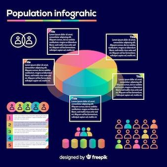 Płaski infographic szablon gradientu styl