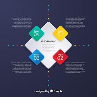 Płaski infographic z gradientowym skutkiem