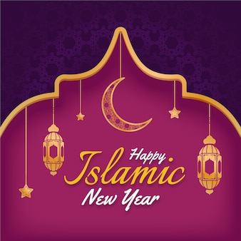 Płaski islamski nowy rok