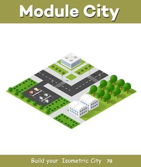 Płaski izometryczny miejski