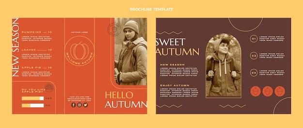 Płaski jesienny szablon broszury