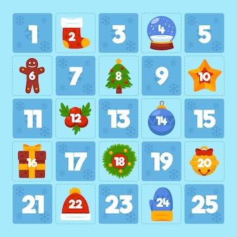 Płaski kalendarz adwentowy