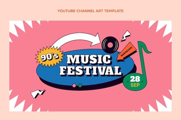 Płaski kanał nostalgicznego festiwalu muzycznego z lat 90. na youtube