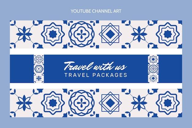Płaski kanał podróży na youtube