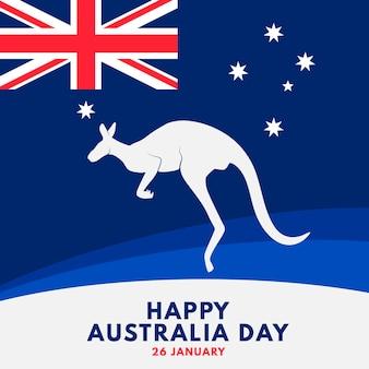 Płaski kangur na dzień australii