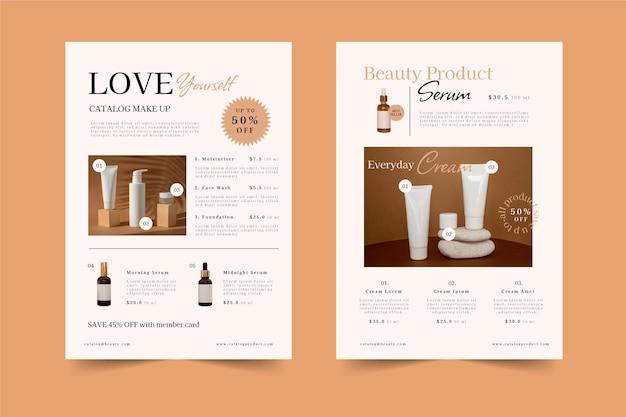 Płaski Katalog Produktów Kosmetycznych Darmowych Wektorów