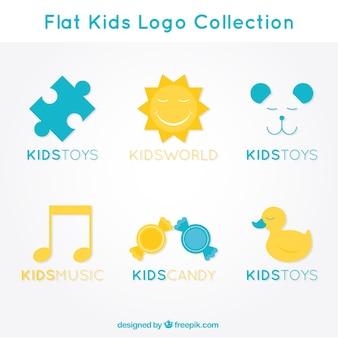 Płaski kid kolekcja logo