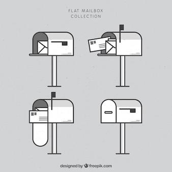 Płaski kolekcja poczta
