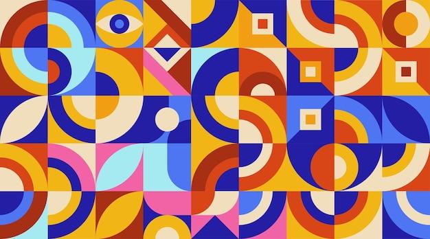 Płaski kolorowy abstrakcyjny geometryczny kształt tła szablonu okładki