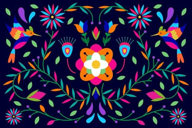 Płaski kolorowy meksykański wygaszacz ekranu