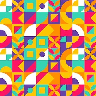 Płaski kolorowy wzór mozaiki