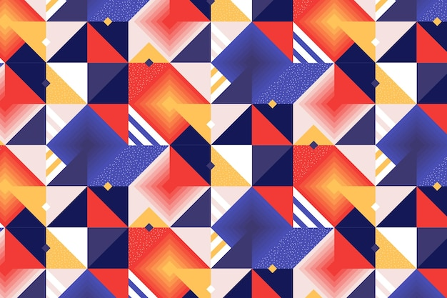 Płaski kreatywny wzór mozaiki
