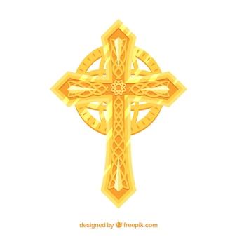 Płaski krzyż ornamentacyjny