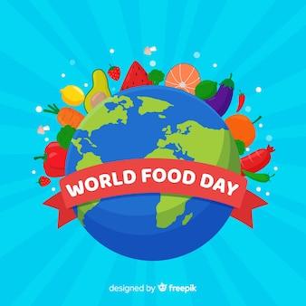 Płaski kształt światowego dnia żywności