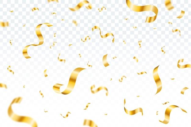 Płaski kształt tła konfetti