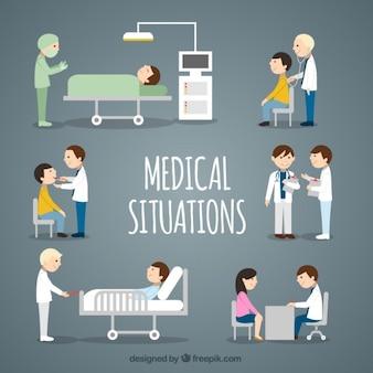 Płaski medical sytuacje collection