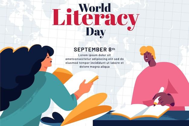 Płaski międzynarodowy dzień alfabetyzacji