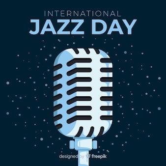 Płaski międzynarodowy dzień jazzu tło