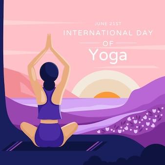 Płaski międzynarodowy dzień jogi