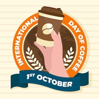 Płaski międzynarodowy dzień kawy
